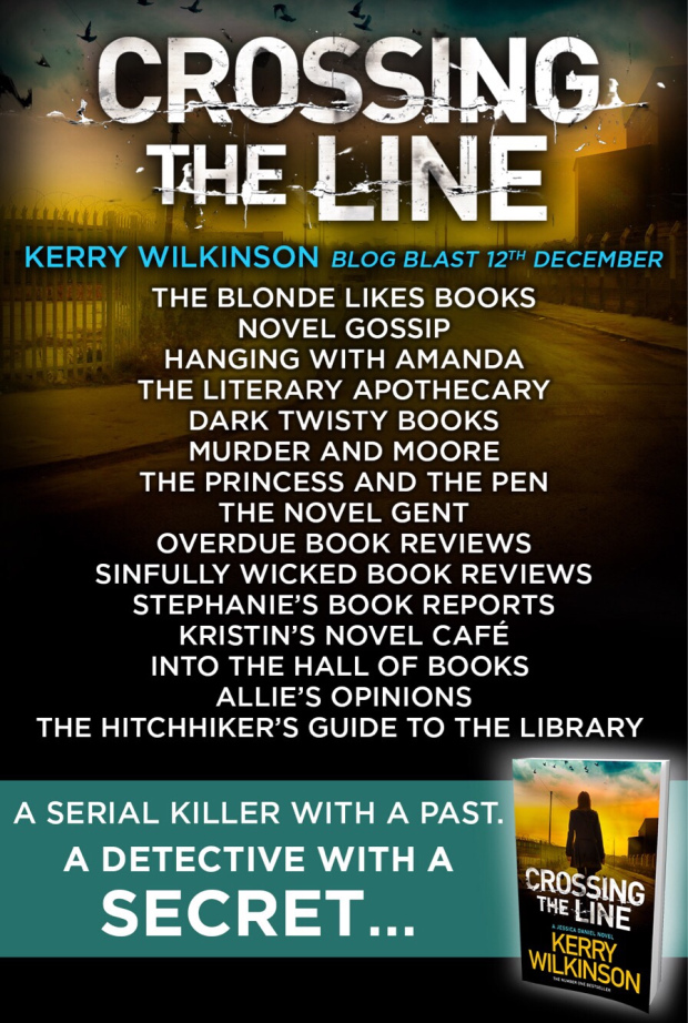 Crossing The Line by Kerry Wilkinson Blog Tour Banner