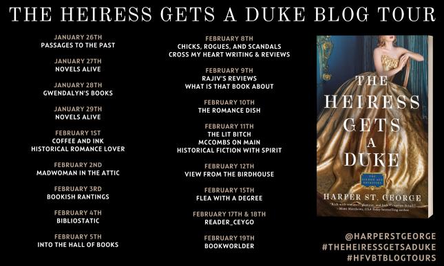 The Heiress Gets A Duke Blog Tour Banner