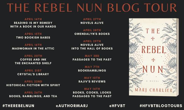 The Rebel Nun by Marj Charlier Blog Tour Banner