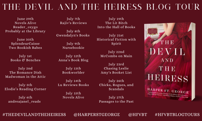 The Devil and the Heiress by Harper St. George Blog Tour Banner